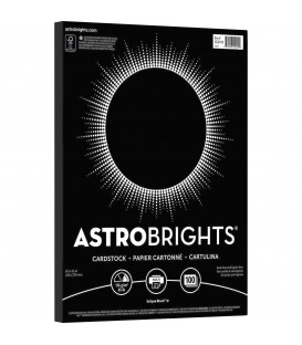 ASTROBRIGHTS® BRIGHT COLOR PAPER, ECLIPSE BLACK, REAM/100SHEETS