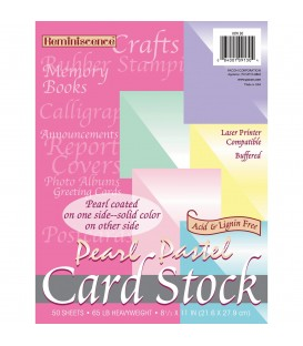 PACON® PEARL PASTELS CARD STOCK, ASSORTED COLORS, 5 COLORS/REAM