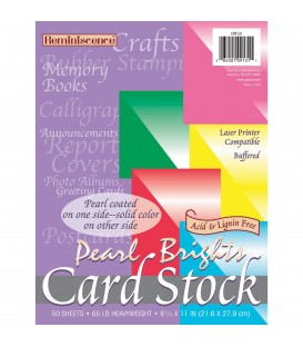 PACON® PEARL BRIGHT CARD STOCK, ASSORTED COLORS, 5 COLORS/REAM
