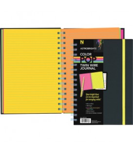 ASTROBRIGHTS® COLOR-POP™ TWIN WIRE JOURNAL WITH BLACKl SOFT-TOUCH COVER