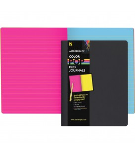 ASTROBRIGHTS® COLOR-POP™ FLEX JOURNALS WITH ECLIPSE BLACK COVER