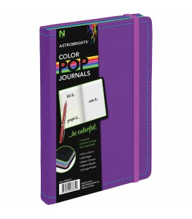 ASTROBRIGHTS® COLOR-POP™ LEATHERETTE JOURNAL BRIGHT PURPLE COVER