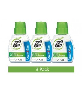PAPER MATE® LIQUID PAPER® CORRECTION FLUID, FAST DRY & SMOOTH COVERAGE