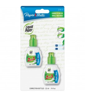 PAPER MATE® LIQUID PAPER® 2 IN 1 CORRECTION FLUID, FAST DRY & SMOOTH COVERAGE