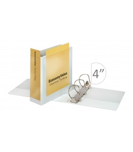"CARDINAL® ECONOMY VALUE™ CLEARVUE™ BINDER, 4"" WHITE"