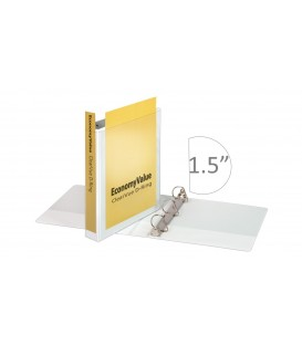 "CARDINAL® ECONOMYVALUE™ CLEARVUE™ BINDER, 1.5"" WHITE"