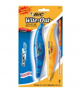 BIC® WITE-OUT® EXACT LINER CORRECTION TAPE, WHITE