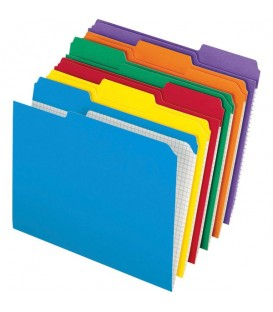 PENDAFLEX FILE FOLDERS, LETTER SIZE, COLORS, REINFORCED
