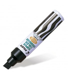 PILOT® JUMBO SUPER COLOR MARKER, PERMANENT BLACK, 1 EACH