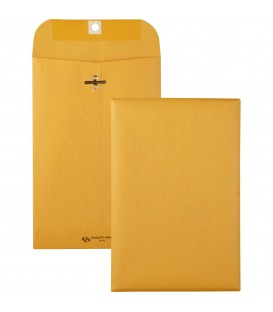 "QUALITY PARK® BROWN KRAFT ENVELOPES, 6"" X 9"", METAL CLASP AND GUM CLOSURE"