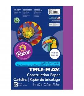 "TRU-RAY® CONSTRUCTION PAPER 9"" X 12"" MAGENTA COLOR, 50 SHEETS"