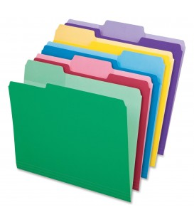 PENDAFLEX FILE FOLDERS, LETTER SIZE, COLORS ASSORTED 24/PACK