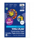 """TRU-RAY® CONSTRUCTION PAPER 9"""" X 12"""" WHITE COLOR, 50 SHEETS"""
