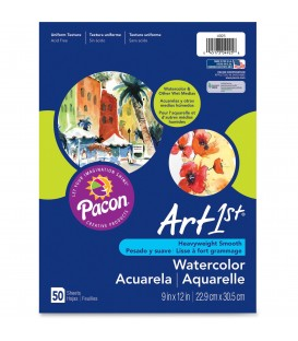 ART1st® WATERCOLOR PAPER, HEAVYWEIGHT SMOOTH, WHITE
