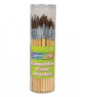 CREATIVITY STREET® CAMEL HAIR PAINT BRUSHES, PACK OF 72
