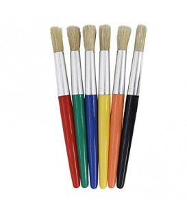 "CREATIVITY STREET® ROUND COLOSSAL BRUSHES, 6"" PACK OF 30"