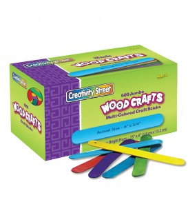 CREATIVITY STREET® WOODCRAFTS, COLOR CRAFT STICKS  JUMBO