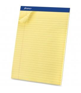 "AMPAD™ WRITING PADS CANARY,  8 1/2"" X 11 3/4"", 50 SHEETS/PAD"
