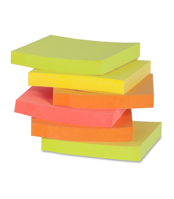 """BUSINESS SOURCE® POP-UP ADHESIVE NOTES ASSORTED 3"""" X 3"""""""