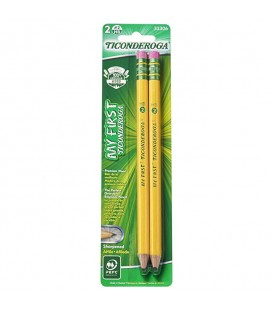 TICONDEROGA® MY FIRST WOOD-CASED PENCILS, 2 PACK