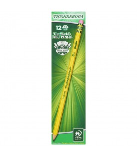 TICONDEROGA® YELLOW BARREL No. 2 SOFT PENCILS, SHARPENED