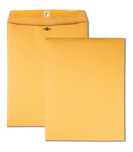"QUALITY PARK® BROWN KRAFT ENVELOPES, 10"" X 13"", METAL CLASP AND GUM CLOSURE"
