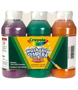 CRAYOLA® ARTISTA II® TEMPERA PAINT SET, WASHABLE, 8 OZ, 3 PACK