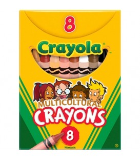 CRAYOLA® MULTICULTURAL CRAYONS, PACK 8 COLORS