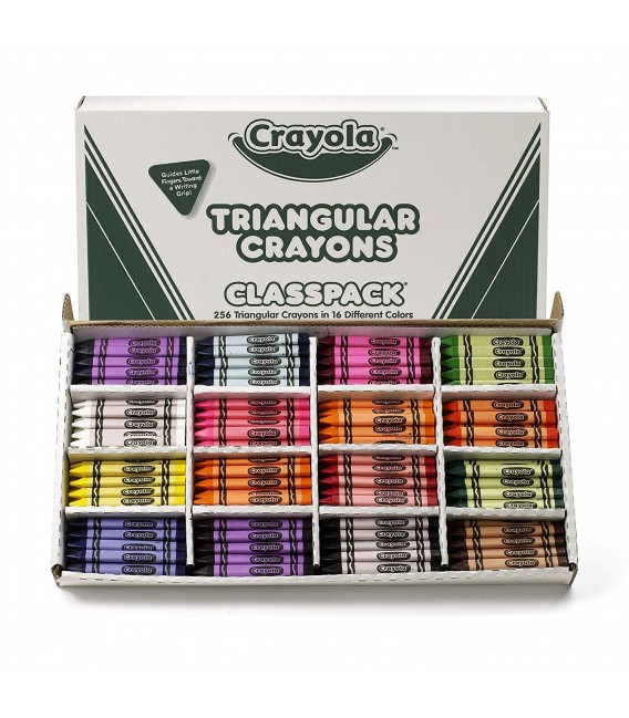 CRAYOLA® CLASSPACK® TRIANGULAR CRAYONS, 256 PACK