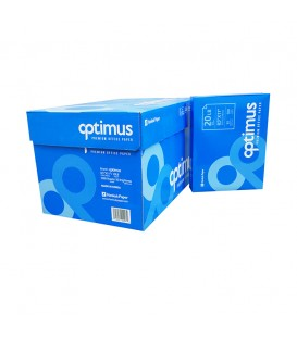 "OPTIMUS™ COPY PAPER, PREMIUM WHITE, 8,5"" X 11"", PROFESSIONAL 92% BRIGHTNESS"