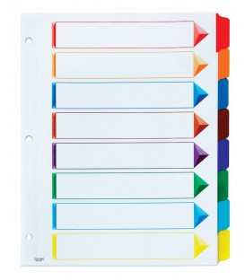 OXFORD® OMNI-DEX, TAB DIVIDERS PRINTABLE, ASSORTED 1/ST