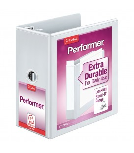 "CARDINAL® PERFORMER™ CLEARVUE™ BINDER, 5"" WHITE"