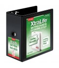 "CARDINAL® XTRALIFE™ CLEARVUE™ BINDERS, 6"" BLACK"