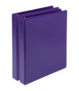 SAMSILL® EARTH'S CHOICE FASHION COLOR VIEW BINDERS, PURPPLE 1""