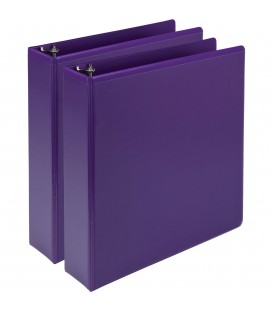 SAMSILL® EARTH'S CHOICE FASHION COLOR VIEW BINDERS, PURPPLE 2""