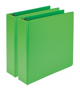 SAMSILL® EARTH'S CHOICE FASHION COLOR VIEW BINDERS, GREEN 2""