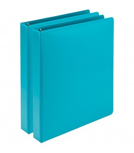 SAMSILL® EARTH'S CHOICE FASHION COLOR VIEW BINDERS, TURQUOISE 1""