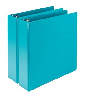 SAMSILL® EARTH'S CHOICE FASHION COLOR VIEW BINDERS, TURQUOISE 2""
