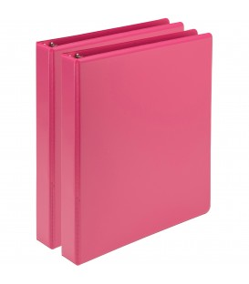 SAMSILL® EARTH'S CHOICE FASHION COLOR VIEW BINDERS, HOT PINK 1""