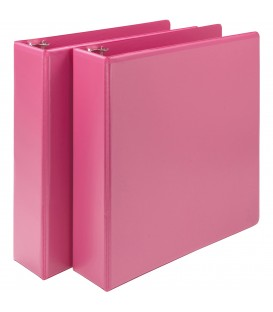 SAMSILL® EARTH'S CHOICE FASHION COLOR VIEW BINDERS, HOT PINK 2""