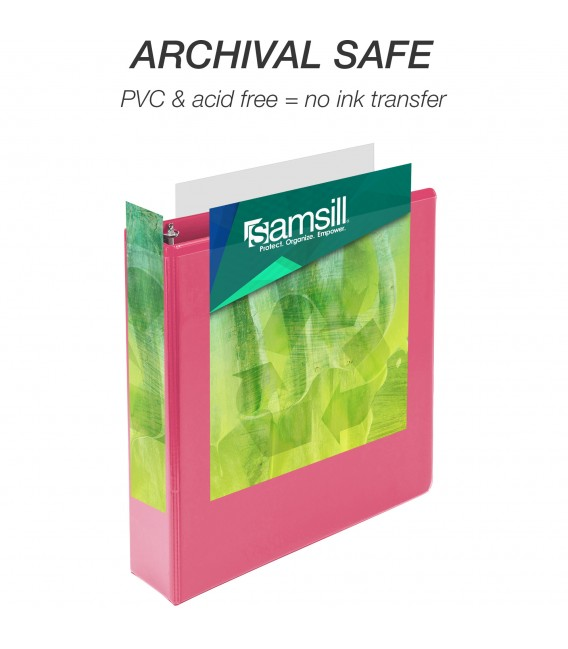 """SAMSILL® EARTH'S CHOICE FASHION COLOR VIEW BINDERS, HOT PINK 2"""""""