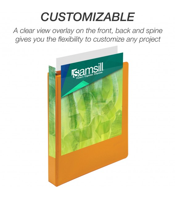 """SAMSILL® EARTH'S CHOICE FASHION COLOR VIEW BINDERS, CORAL 1"""""""