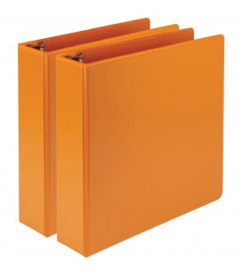 """SAMSILL® EARTH'S CHOICE FASHION COLOR VIEW BINDERS, CORAL 2"""""""