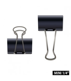 """BUSINESS SOURCE® BINDER CLIPS MINI 1/4"""", BOX OF 12 EACH"""