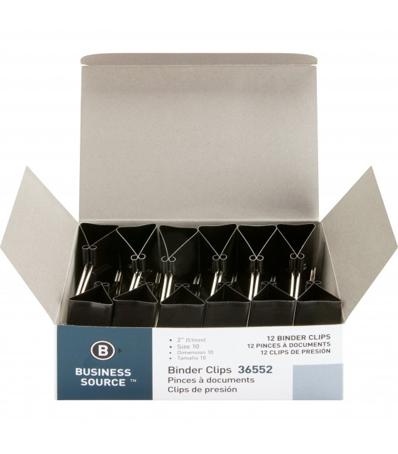 """BUSINESS SOURCE® BINDER CLIPS LARGE 1"""""""", BOX OF 120 EACH"""