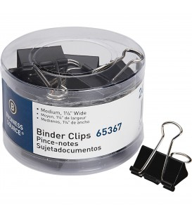 "BUSINESS SOURCE® BINDER CLIPS MEDIUM 5/8"", 24 COUNT"