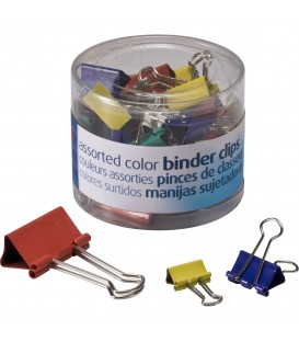 OFFICEMATE OIC® BINDER CLIPS COLORED ASSORTED, 30/PACK