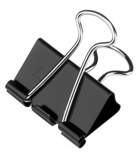 "ACCO® BINDER CLIPS BLACK MEDIUM 5/8"", 12/PACK"