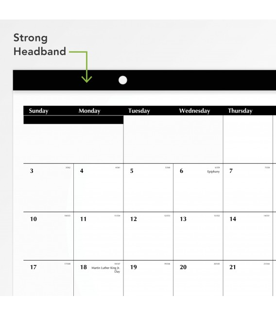 AT-A-GLANCE® 2021 COMPACT MONTHLY DESK PAD WALL CALENDAR, 1 EACH