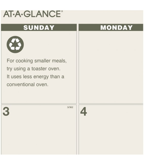 AT-A-GLANCE® 2021 RECYCLED MONTHLY DESK PAD WALL CALENDAR, 1 EACH